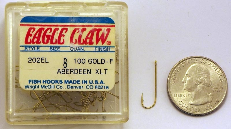 EAGLE CLAW GOLD ABERDEEN LIGHT WIRE HOOKS # 202 100 CT